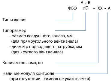 Фильтр бактерицидной обработки воздуха ФБО
