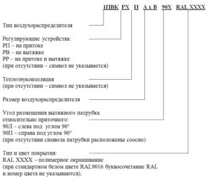 Приточно-вытяжные воздухораспределители 1ПВК