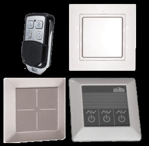 Беспроводное управление воздухораспределителями с электроприводами для изменения формы или направления струи